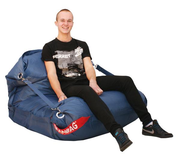 BeanBag BeanBag sedací vak 189x140 comfort s popruhy jeans
