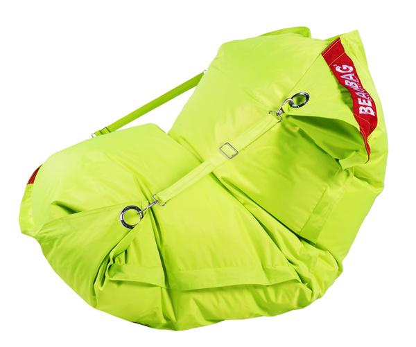 BeanBag BeanBag sedací vak 189x140 comfort s popruhy fluo limet