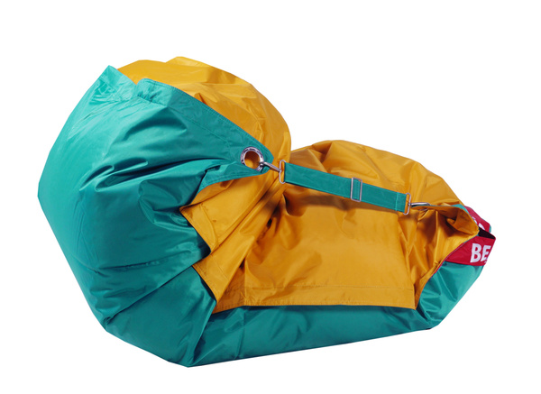 BeanBag BeanBag sedací vak 189x140 duo golden - sea green
