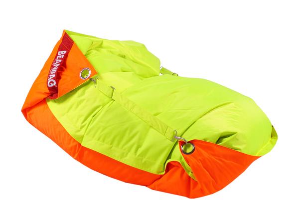 BeanBag BeanBag sedací vak 189x140 duo orange - fluo limet